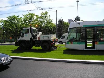 Le tramway dans le décor