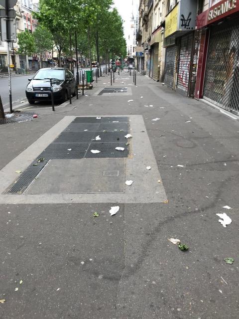 Crasse à Paris : un jour de mai ordinaire boulevard de Strasbourg