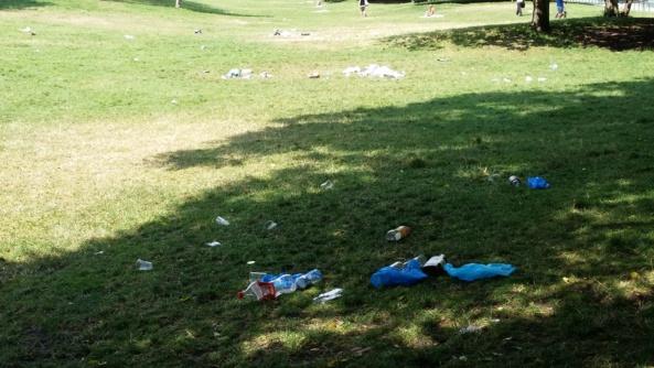 Monceau d'ordures et cadavre en Buttes