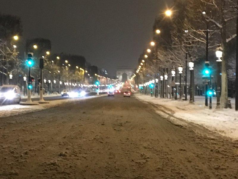 Les Champs enneigés