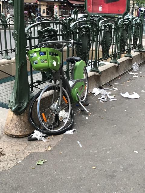 Nature vraiment morte au Vélib'